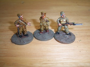 Mainwaring , Wilson and Jones. When playing Jones you gained a +1 in combat for shouting