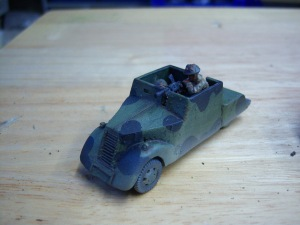 Beaverette by Sloppy Jaloppy. Great model. I have scratch built a later version with a turret.